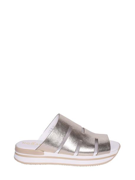 Hogan Strappy Design Platform Sandals