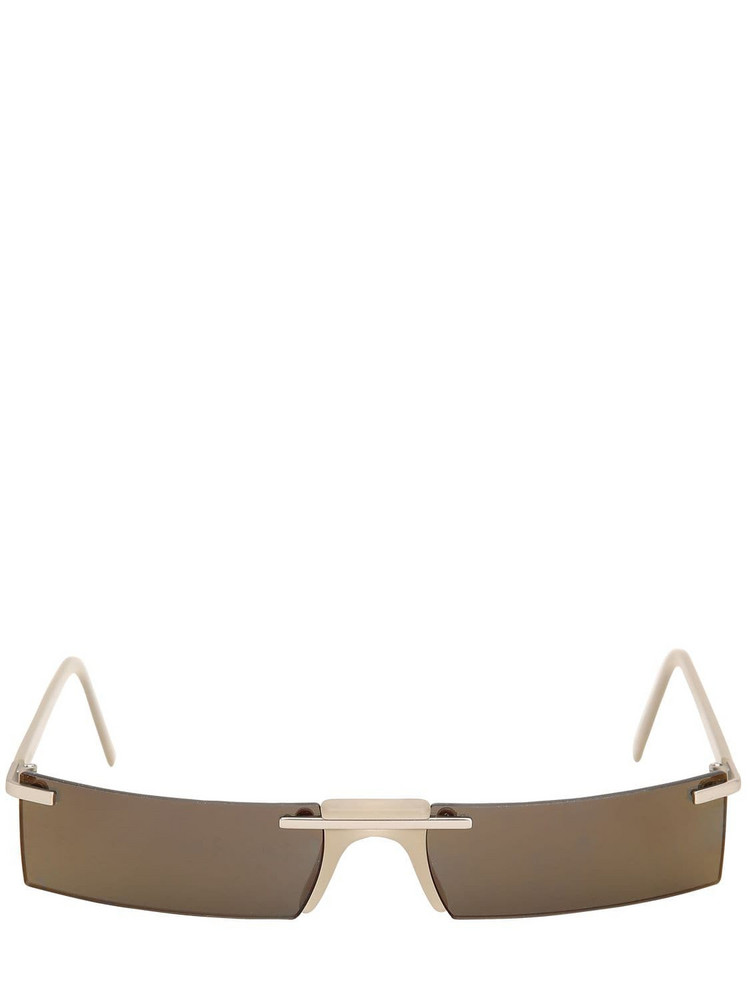 ANDY WOLF Wentworth Rectangular Sunglasses in silver