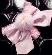 underwear,pink,pastel underwear,pastel pink underwear,pastel lingerie,pink underwear,pastel pink lingerie,bunny,bunny tail,pastel pink,lingerie,pale pink underwear,fluffy bunny tail,ribbon,bow