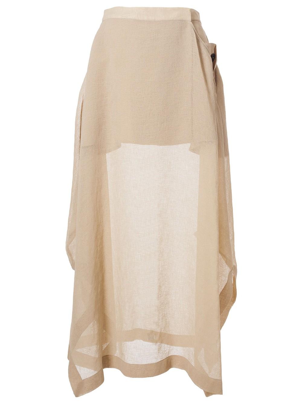 Jil Sander Draped Skirt in beige
