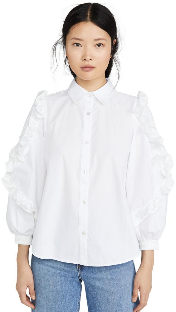 Clu Ruffle Detailed Shirt in white