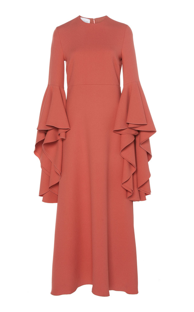 Giambattista Valli Ruffled Crepe Maxi Dress in pink