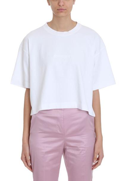 Acne Studios White Cotton T-shirt 28 Cylea Emboss