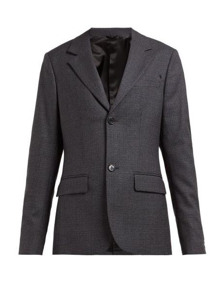 blazer wool grey houndstooth jacket