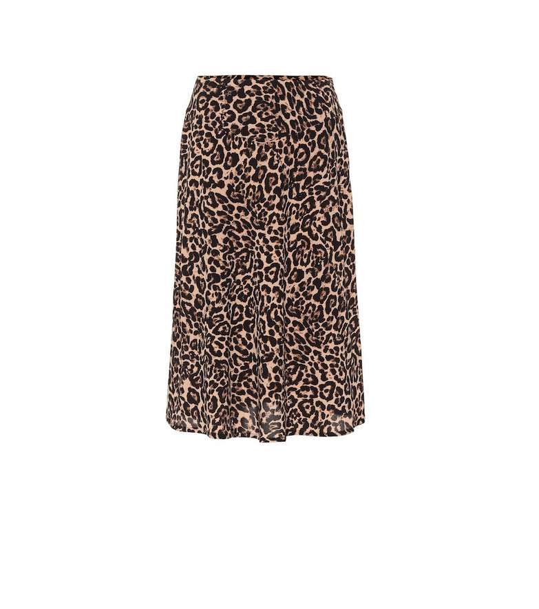 Baum und Pferdgarten Senga leopard-print midi skirt in brown
