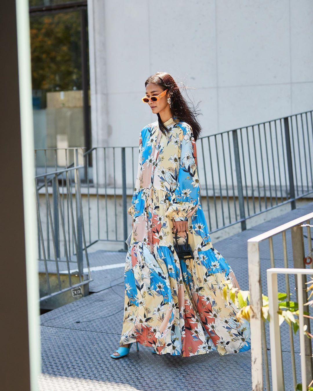 dress maxi dress shirt dress long sleeve dress floral dress sandal heels handbag black bag