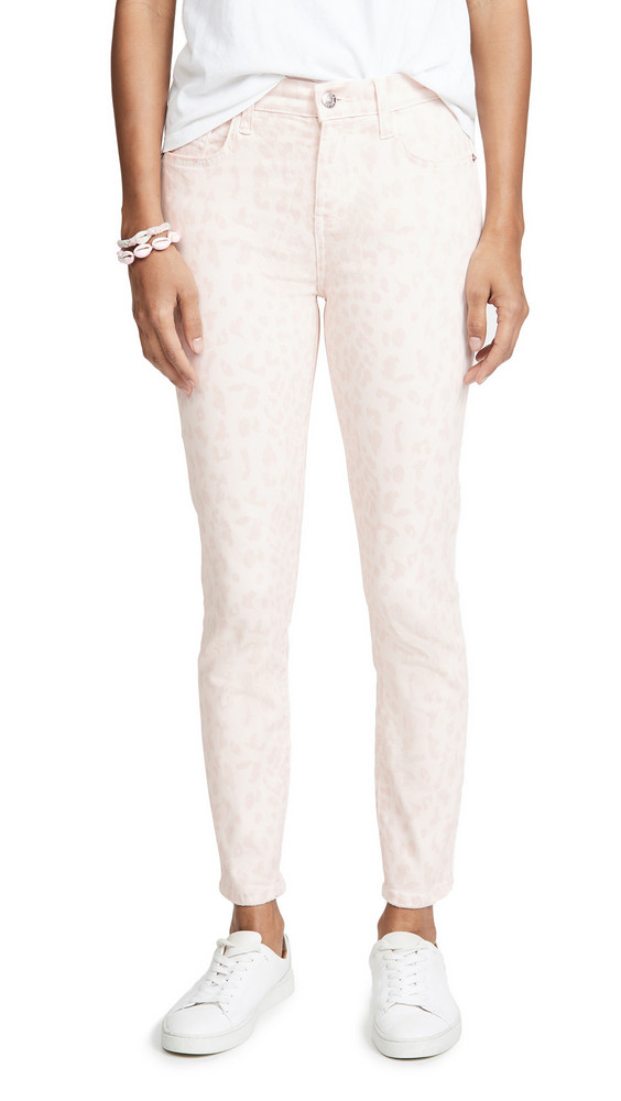 Current/Elliott The High Waist Stiletto Jeans in rose / leopard