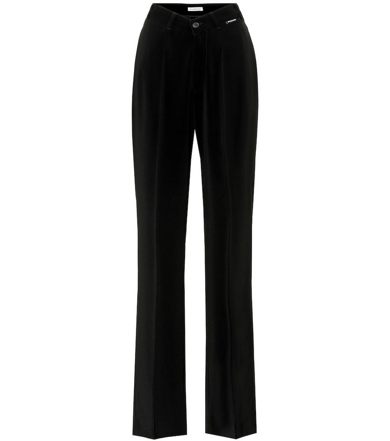 Balenciaga High-rise jersey pants in black