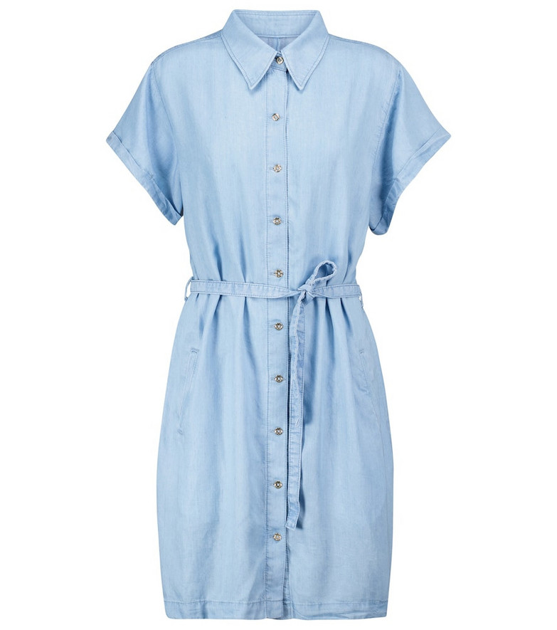 7 For All Mankind Anett shirt dress in blue