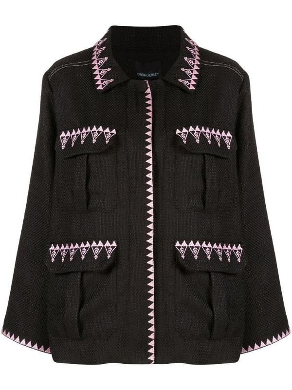 Cynthia Rowley Damen multi-pocket jacket in black