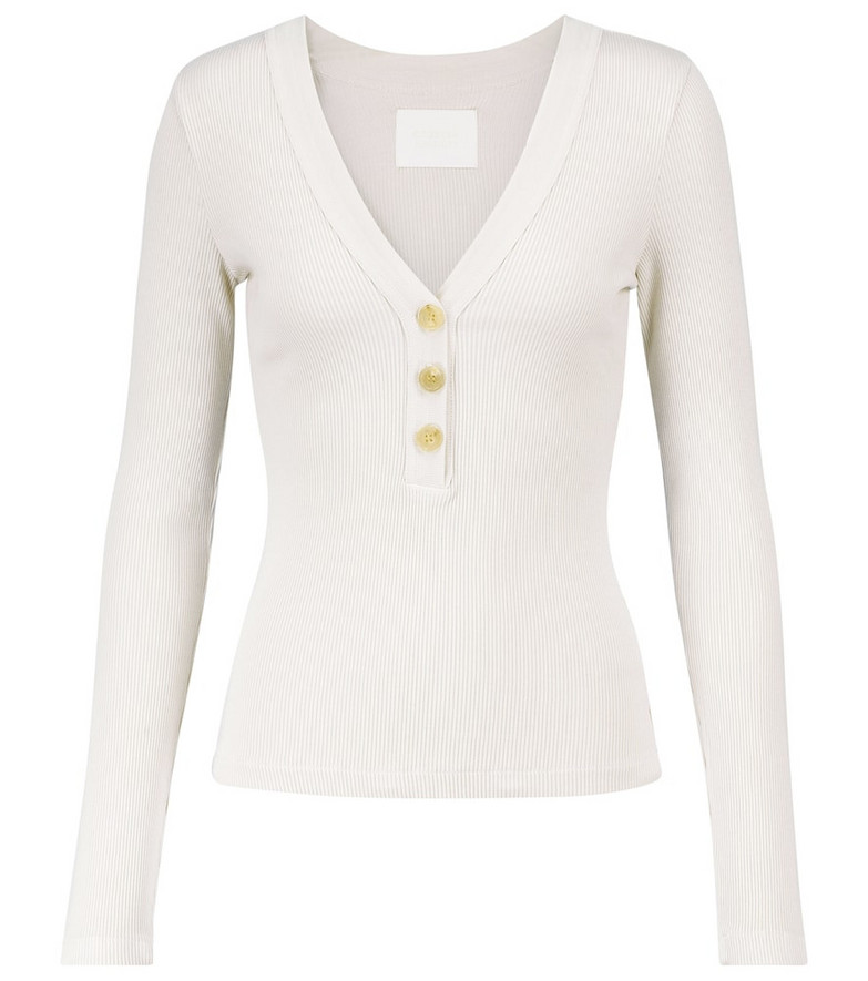 Citizens of Humanity Scarlett cotton-blend top in white