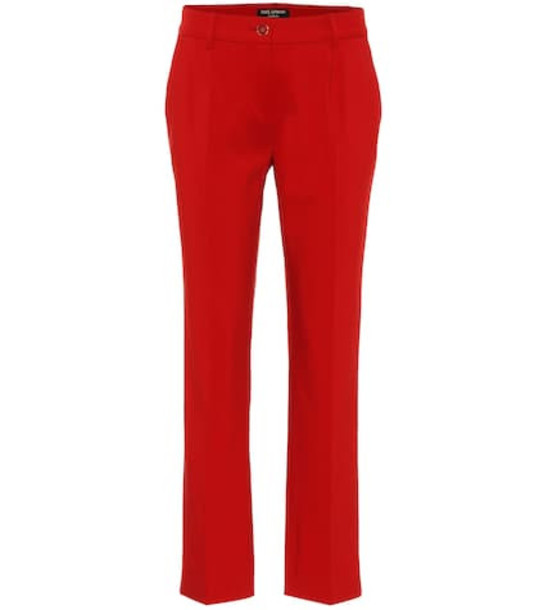Dolce & Gabbana Exclusive to Mytheresa – cotton-blend mid-rise pants in red
