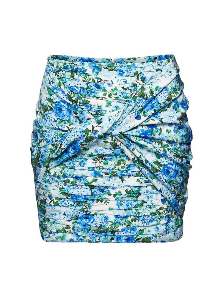 MAGDA BUTRYM Draped Silk Stretch Mini Skirt