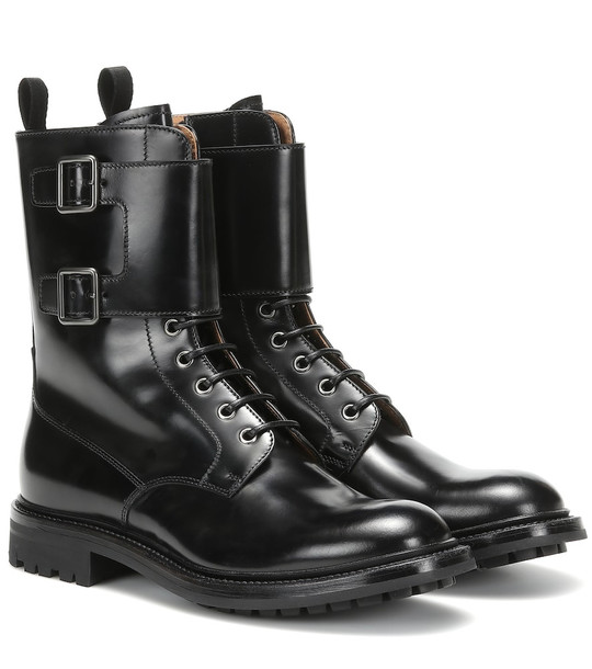 Church's Carly leather ankle boots in black