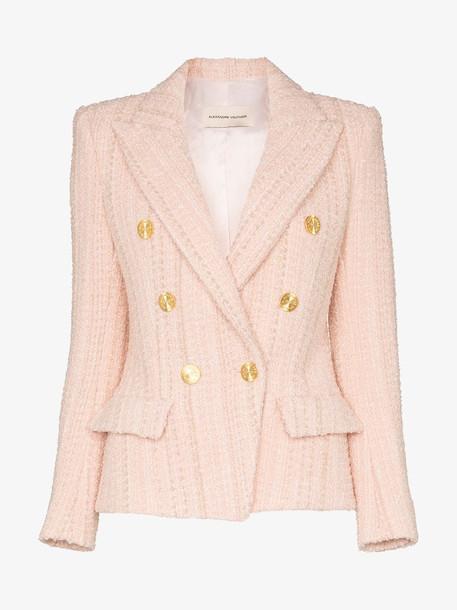 Alexandre Vauthier Buttoned tweed blazer in pink