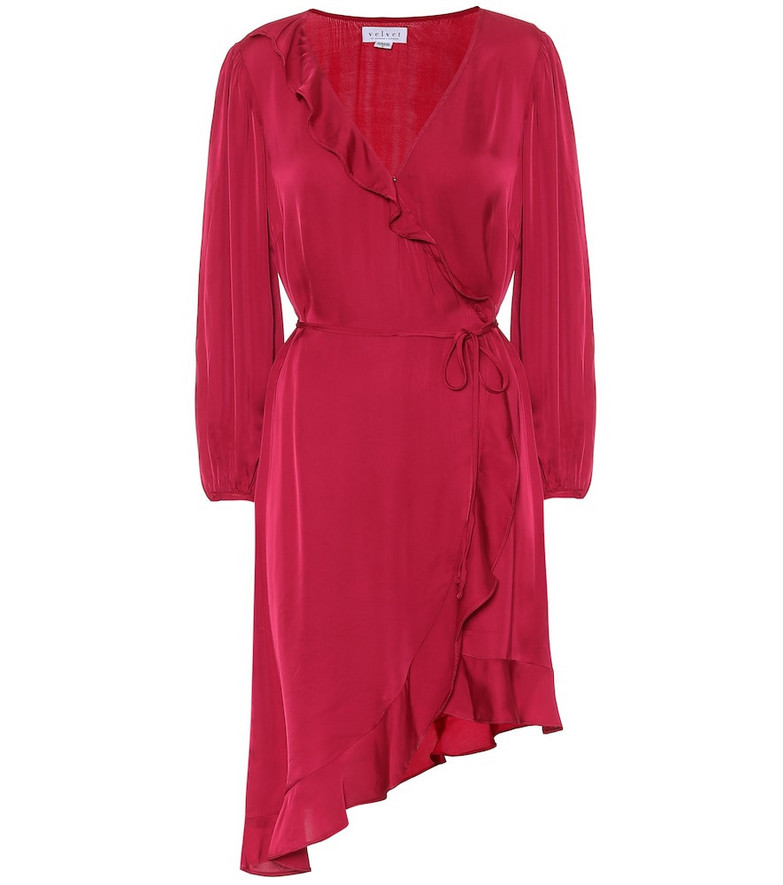 Velvet Alena satin minidress in red