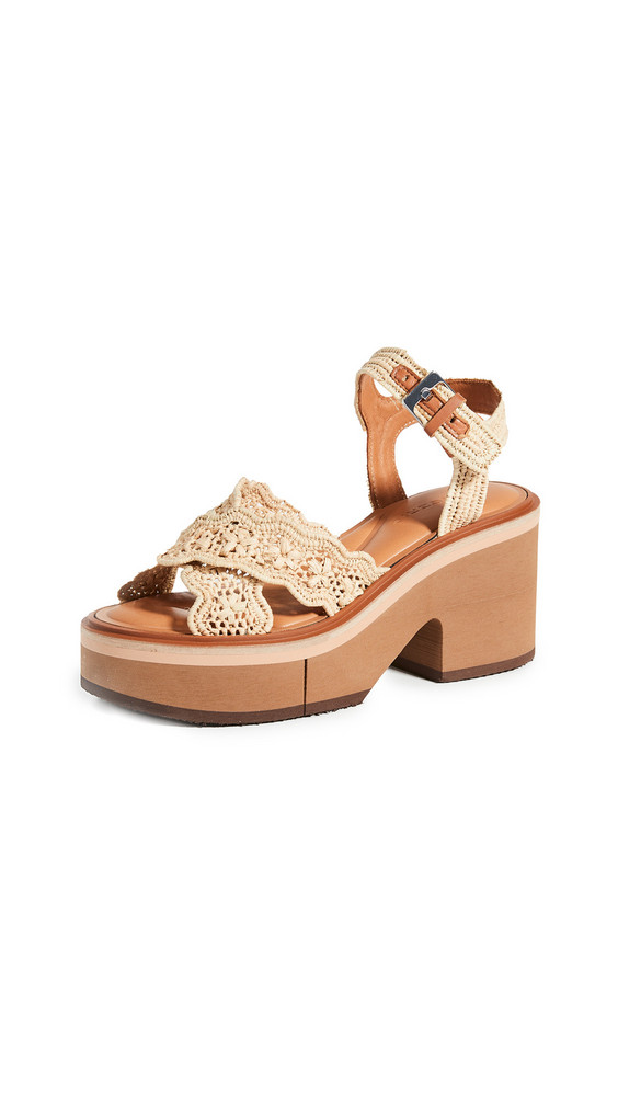 Clergerie Charlize Sandals in natural