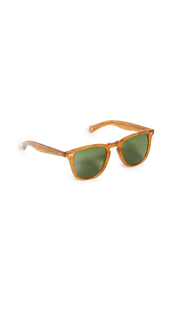 GARRETT LEIGHT Brooks X 48mm Sunglasses in green