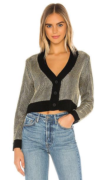 superdown Loraine Metallic Sweater in Metallic Gold,Black