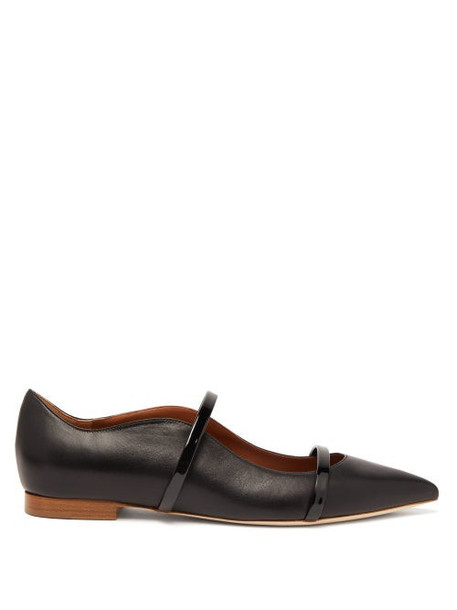 Malone Souliers - Maureen Leather Flats - Womens - Black