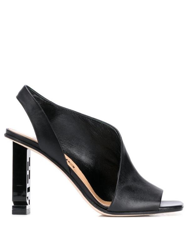 Sergio Rossi Supper Heel open toe sandals in black