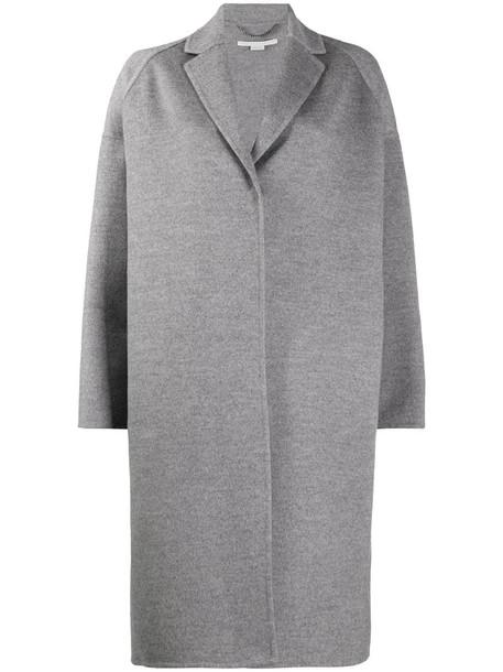 Stella McCartney Bilpin oversize coat in grey