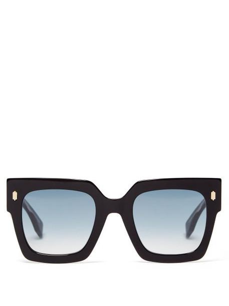 Fendi - Fendi Roma Square Acetate Sunglasses - Womens - Black