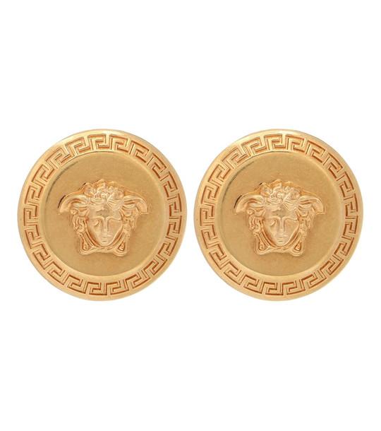 Versace Tribute Medusa stud earrings in gold