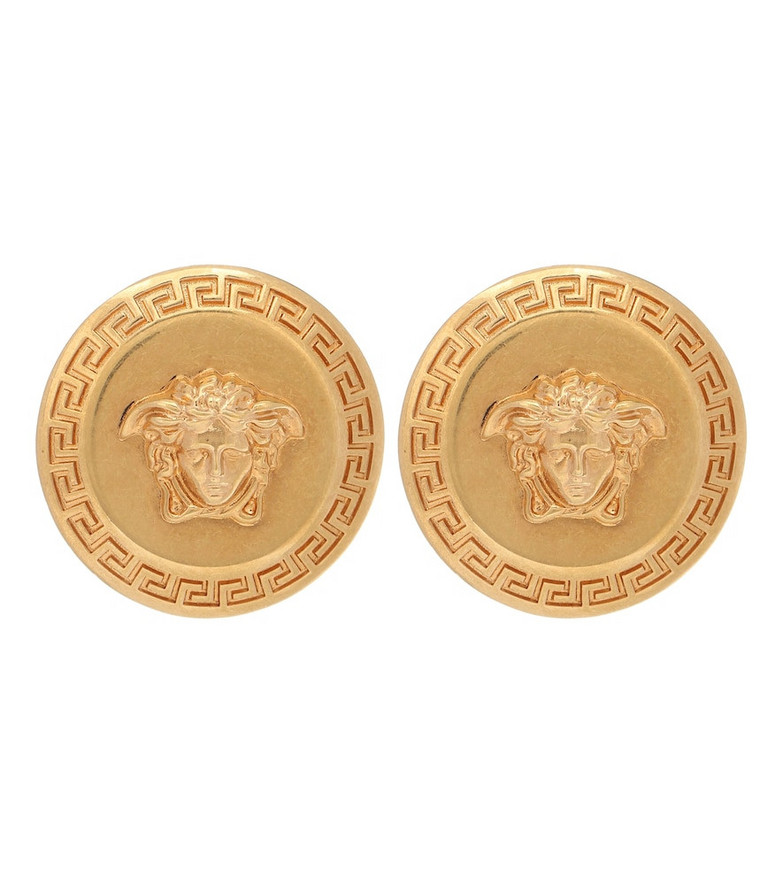 Versace Tribute Medusa stud earrings in gold