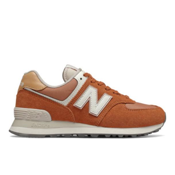New Balance 574 Women's 574 Shoes - Orange/Brown (WL574SYN)