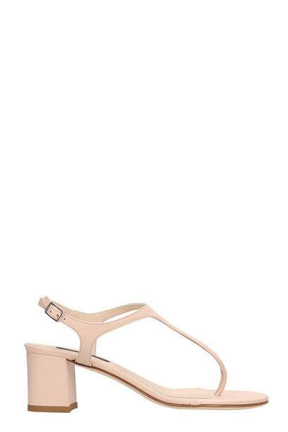 Fabio Rusconi Nude Patent Leather Sandals