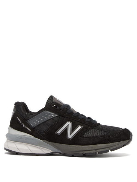 New Balance - 990 Suede And Mesh Trainers - Womens - Black White