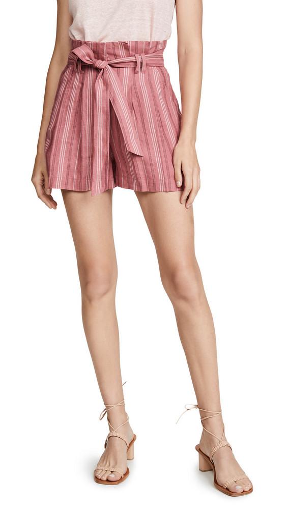 Rebecca Taylor Stripe Shorts in rose