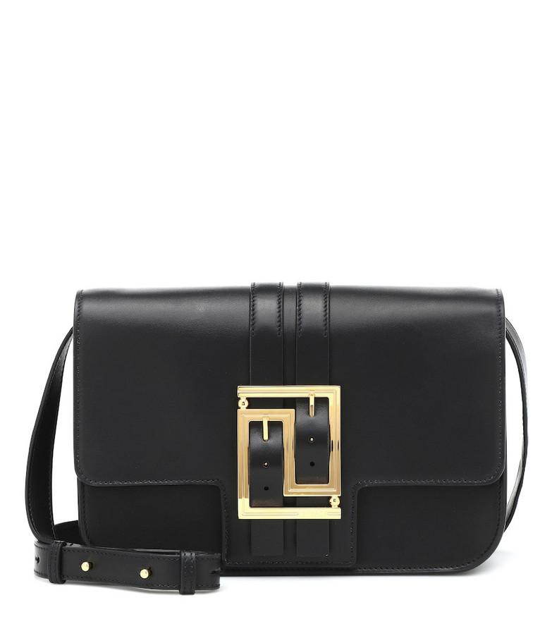 Versace Baguette leather shoulder bag in black