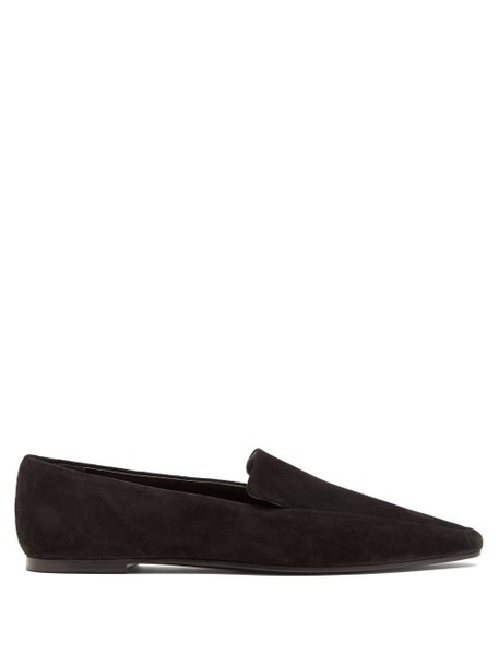 The Row - Minimal Suede Loafers - Womens - Black