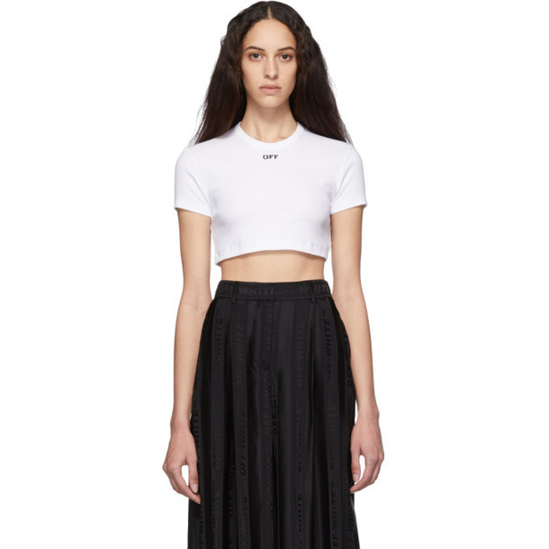 Off-White White Cropped Tiny T-Shirt