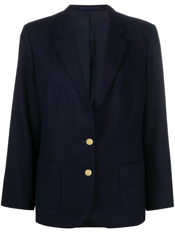 Burberry Pre-Owned 1990 pre-owned single-breasted blazer in blue