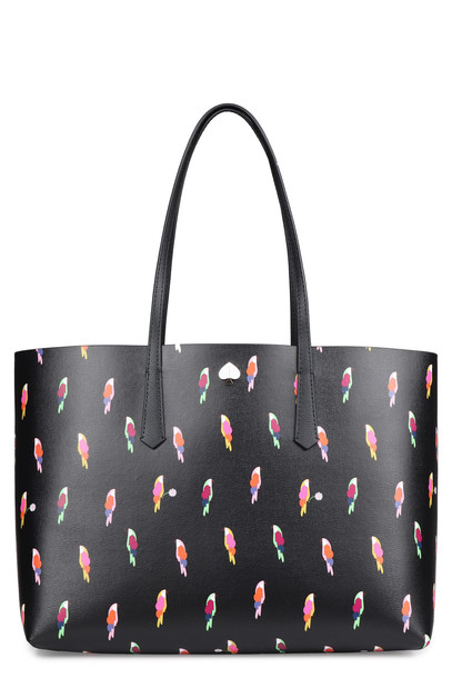 Kate Spade Molly Flock Party Printed Tote Bag in black