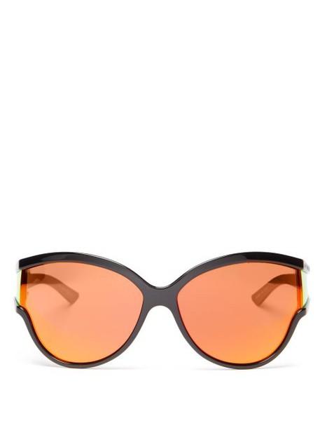 Balenciaga - Ski Reflective Cat Eye Sunglasses - Womens - Orange