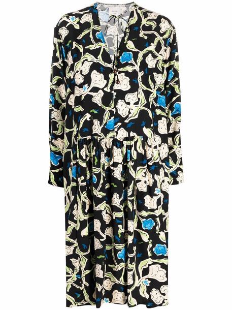 Alysi silk floral-print dress - Black