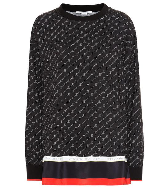 Stella McCartney Mossman silk-blend cady top in black