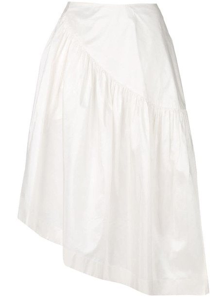 Simone Rocha frilled midi skirt in white