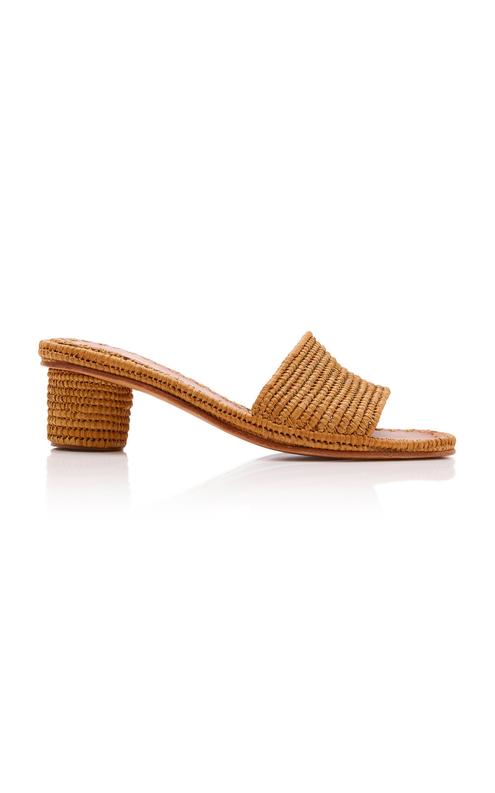 Carrie Forbes Bou Raffia Heeled Mule Size: 37 in brown