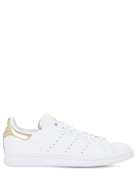 ADIDAS ORIGINALS Stan Smith Leather Sneakers in gold / white