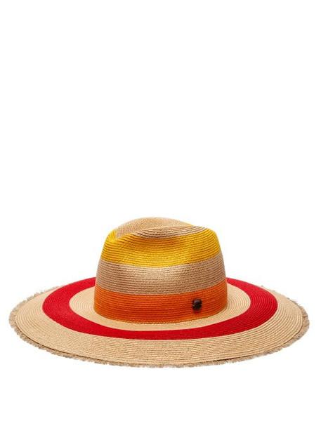 Filù Hats - Fuji Sun Wide Brim Straw Hat - Womens - Multi