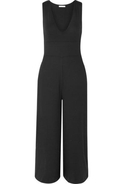 Skin - Noreen Ribbed-knit Jumpsuit - Black