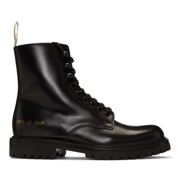 Woman by Common Projects Black Combat Lug Sole Boots