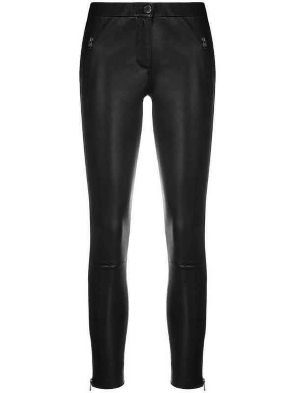 Arma fitted biker leggings in black