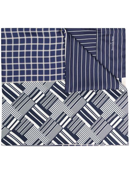Pierre-Louis Mascia panelled silk scarf in blue