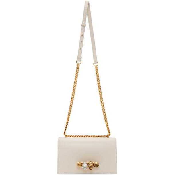 Alexander McQueen Off-White Jeweled Satchel